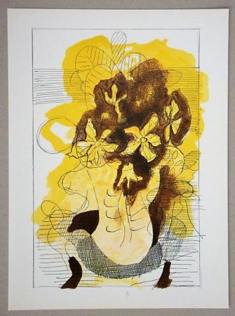 Lithograph Braque (After) - Vase jaune