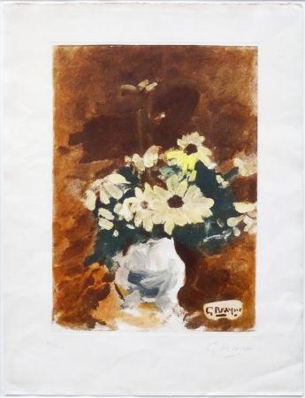 Aquatint Braque - Vases aux fleurs jaunes