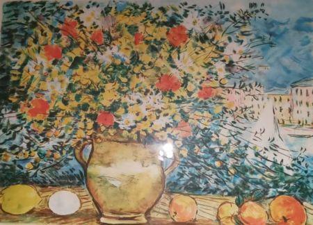 Lithograph Cascella - Vaso di fiori