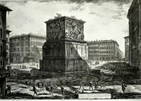 Etching Piranesi - Veduta del Piedestallo dell'Aposteosi, from