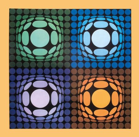 Rotogravure Vasarely - '' VEGA BI ARCT ''