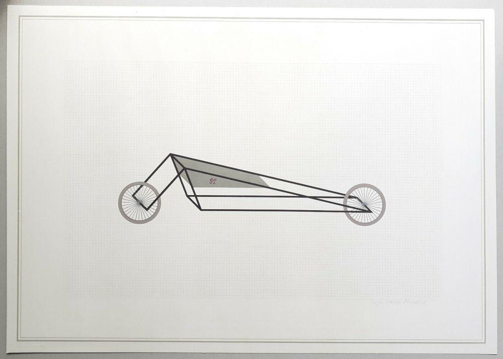 Lithograph Piacentino - Vehicle sculpture. Wall sculpture (b)