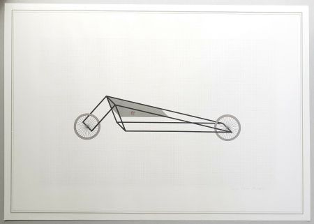 Lithograph Piacentino - Vehicle sculpture. Wall sculpture (b)