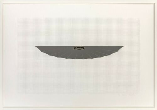 Lithograph Piacentino - Vehicle sculpture. Wall sculpture (d)
