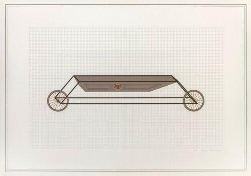 Lithograph Piacentino - Vehicle sculpture. Wall sculpture (e)