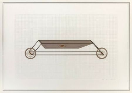 Lithograph Piacentino - Vehicle sculpture. Wall sculpture (e)