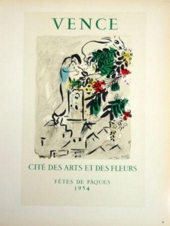 Lithograph Chagall - Vence - Cité des Fleurs