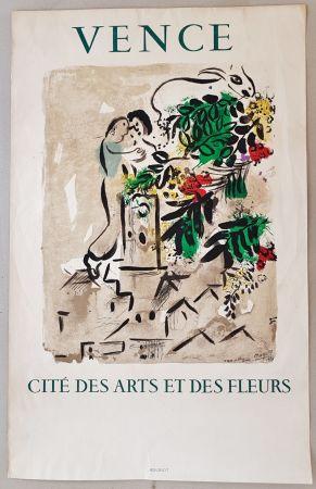 Lithograph Chagall - Vence Cite des Arts et des Fleurs