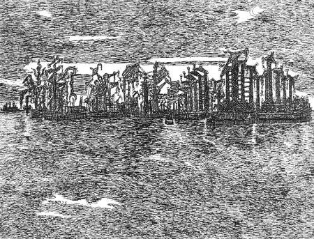 Engraving Zancanaro - Venezia industriale