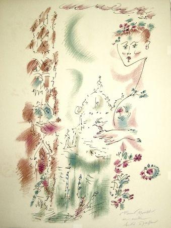 Lithograph Masson - Venise en fleurs