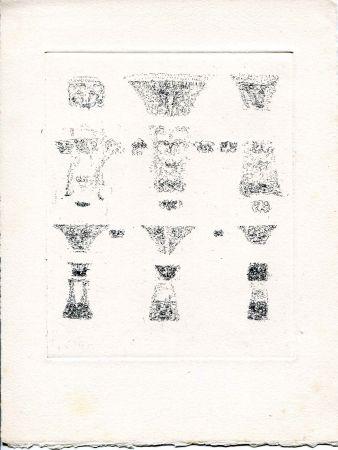 Engraving Michaux - Vents et Poussières.