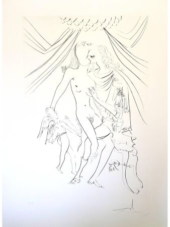 Lithograph Dali - Venus, Mars et Cupidon