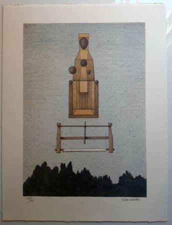 Lithograph Subirachs - Verge de Montserrat