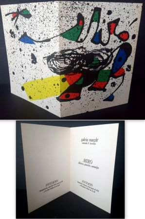 Lithograph Miró - Vernissage Miró Dibuixos, Gouaches, Monotips Galeria Maeght