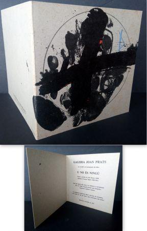 Lithograph Tàpies - Vernissage U no es Ningú Galería oan Prats