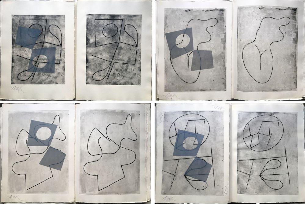 Illustrated Book Arp - VERS LE BLANC INFINI. Exemplaire unique avec les gravures signées (1960).