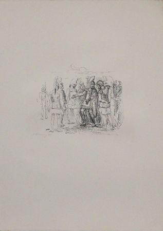 Lithograph Slevogt - Versammlung des Klearchos
