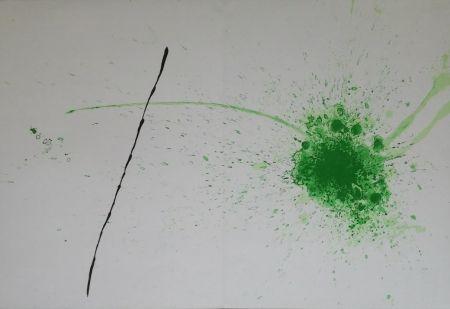 Lithograph Miró - Vert