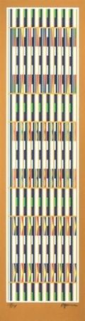 Lithograph Agam - Vertical Orchestration ; Gold series