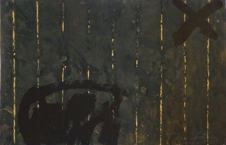 Etching Tàpies - Vertical plegat