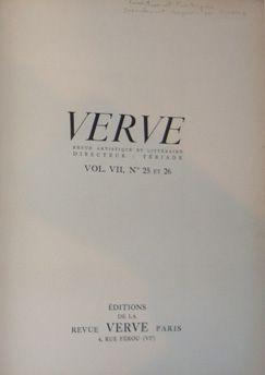 Illustrated Book Picasso - Verve 25 et 26