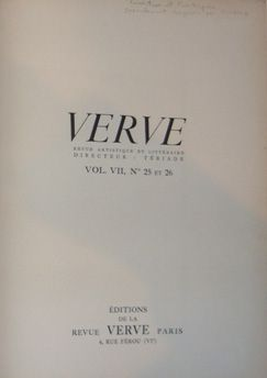 Illustrated Book Picasso - Verve 25 et 26