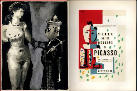 Illustrated Book Picasso - VERVE N° 29-30. Vallauris, suite de 180 dessins de Picasso