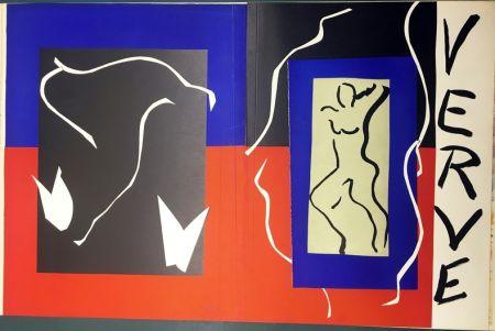 Lithograph Matisse - VERVE Vol. I n° 1. COUVERTURE À PLAT À GRANDES MARGES