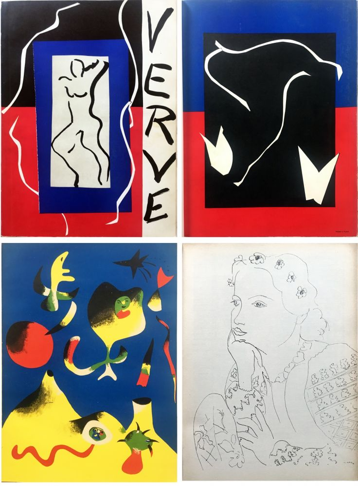 Illustrated Book Matisse - VERVE Vol. I n° 1. (couverture de Matisse).