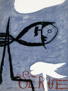 Illustrated Book Braque - VERVE VOL. I n° 2. (Couverture de G. Braque)