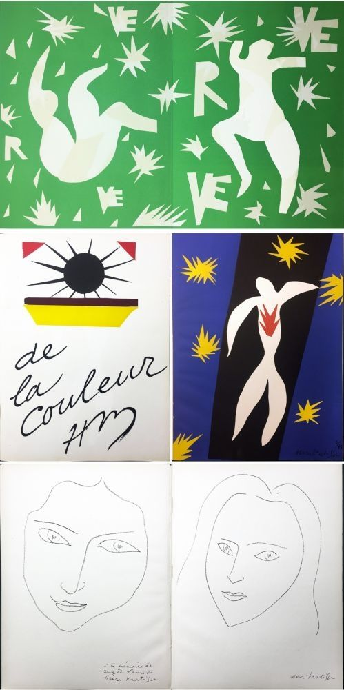 Illustrated Book Matisse - VERVE. Vol. IV, No. 13. DE LA COULEUR. La Chute d'Icare (1945).