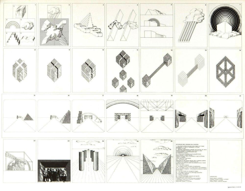 Lithograph Superstudio - Viaggio nelle regioni della ragione