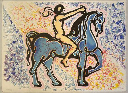 Lithograph Dali - Victoire de l'homme primitif