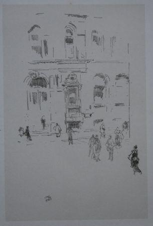 Lithograph Whistler - Victoria Club