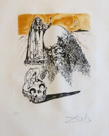 Etching And Aquatint Dali - Vieillard à la tête de mort