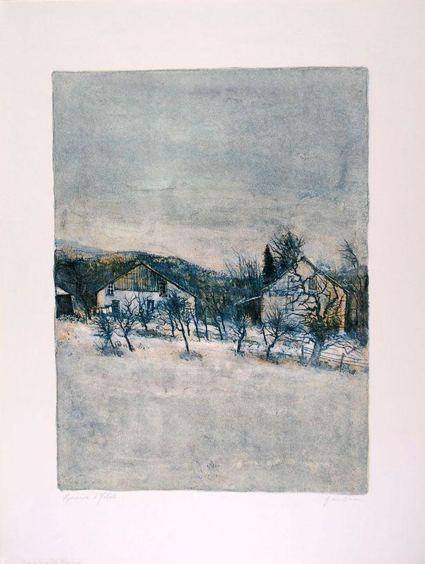Lithograph Gantner - Vieilles Maisons - Old Houses