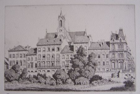 Etching Strang - View of Brussels