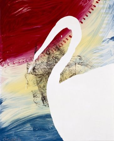Screenprint Schnabel - View of Dawn from the Tropics-Roy