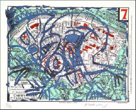 Lithograph Alechinsky - VIIe Arrondissement