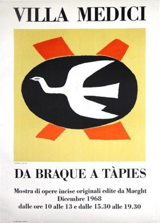 Lithograph Braque - Villa Medici  Da Braque A Tapiès