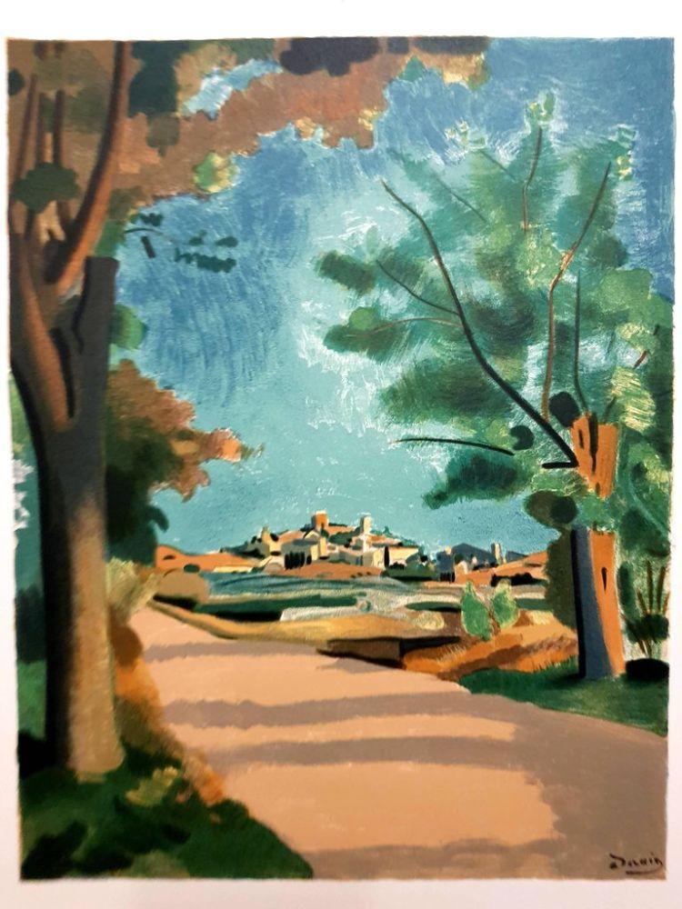 Lithograph Beaudin - Village de Provence