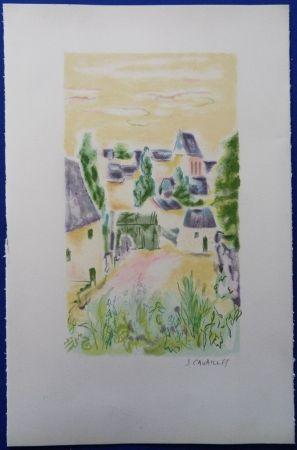 Lithograph Cavailles - Village en Provence