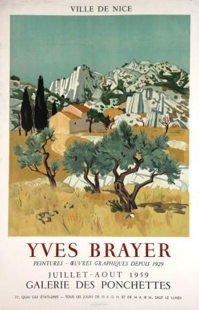 Lithograph Brayer - Ville de Nice