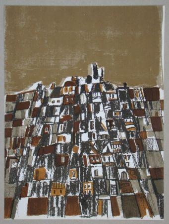 Lithograph Vieira Da Silva - Ville espagnole