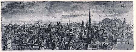 Etching And Aquatint Desmazières - Ville Imaginaire