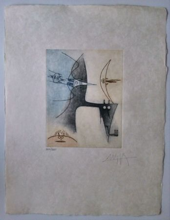 Etching And Aquatint Lam - Vingtieme Parallele