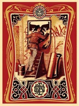 Screenprint Fairey - Vintage Paster