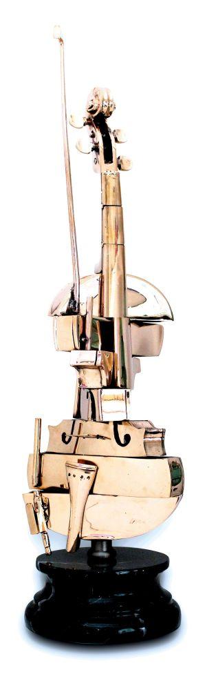 Lithograph Arman - Violon Spirale
