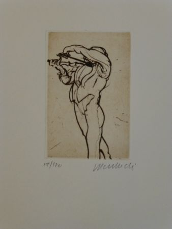 Etching Weisbuch - Violoniste