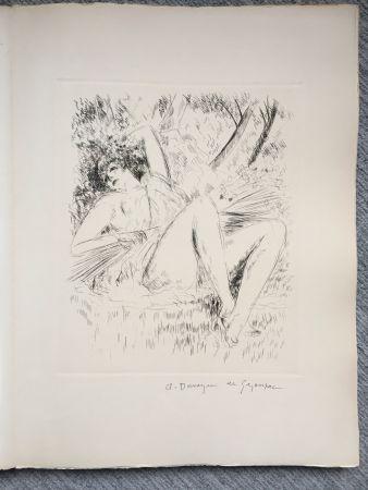 Illustrated Book De Segonzac - Virgile. LES GEORGIQUES - GEORGICA. 119 eaux-fortes originales dont 46 signées au crayon par l'artiste.